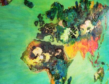 wereldkaart detail